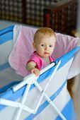 Baby Standing In Playpen