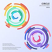 Abstract Colorful Circles Maze Rounded Corners Background With Space For Text. Vector Illustration poster