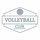 Volleyball Logo. Simple Illustration Of Volleyball Logo For Web poster