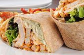 Chicken Wraps Close Up