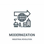 Modernization Icon Isolated On White Background From Industrial Revolution Collection. Modernization poster