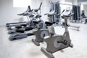 stock photo of treadmill  - elliptical cross trainer - JPG