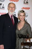 LOS ANGELES - FEB 6:  James Cromwell, Patricia Ward Kelly arrives at the AARP's 11th Annual Movies F