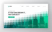 Landing Page Template For Business. Modern Web Page Design Concept Layout For Website. Vector Illust poster