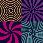 Creative Vector Illustration Of Hypnotic Psychedelic Spiral. Art Design Radial Rays, Twirl, Twisted, poster