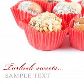 The turkish delight isolated on white background