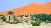 Sand Dunes In The Sahara Desert, Merzouga, Morocco.. poster