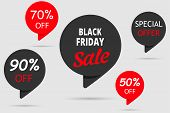 Black Friday Sale, Special Offer, Set Tag 50 Off And 70 Off And 90 Off poster
