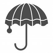 Umbrella Solid Icon. Meteorology Vector Illustration Isolated On White. Rain Protection Glyph Style  poster