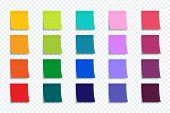 Colorful Stickers Set Isolated On Transparent Background. Stickers. Vector Colorful Stickers For Adv poster