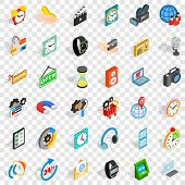 Modern Device Icons Set. Isometric Style Of 36 Modern Device Vector Icons For Web For Any Design poster