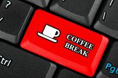 Coffee Break Icon Button