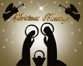 Christmas Card Blessings Modern Absrtact