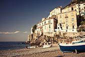 Vista de la ciudad de Minori, Italia