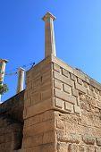 Pillar At Lindos Acropolis