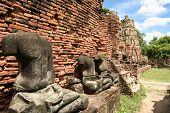 Ayuthaya estátuas de Buddha Temple Tailândia