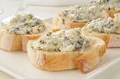 Spinach Artichoke Dip On Italian Toast