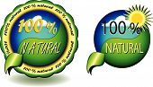 100 % Natural Seals Vector