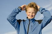 Kid Adjusts His Hair