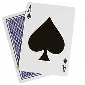 picture of playing card  - Ace spades close - JPG