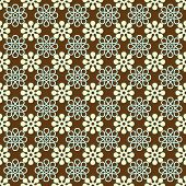 Brown, White, & Aqua Floral Pattern