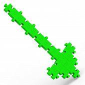 nach unten zeigender Pfeil Puzzle zeigt Währungskrise