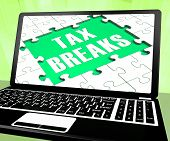 Tax Breaks On Laptop Shows Internet Paying