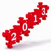 2013 Puzzle Showing New Year's Resolutions