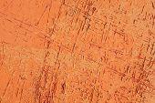 patroon van oude oranje en rode verf
