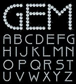 vector alphabet with diamonds