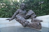 image of albert einstein  - the albert einstein memorial in washington dc - JPG