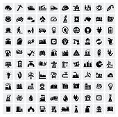 industrie icons set