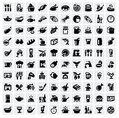 pic of chinese menu  - food icons set - JPG