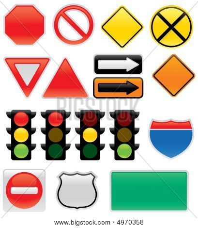 Traffic Signs And Symbols Poster Id4970358