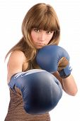 Boxing Female Punching