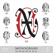 pic of monogram  - Vintage monogram set - JPG
