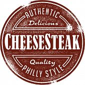 Philly Cheesesteak Sandwich Menu Stamp