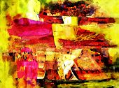 picture of acrylic painting  - abstract painting - JPG