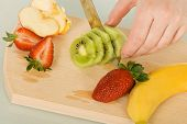 Fruits On Chopping Board