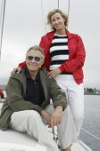 image of 55-60 years old  - Couple on yacht - JPG