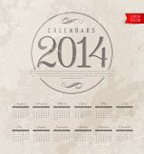 pic of calendar 2014  - Vector template design  - JPG