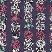 Vector seamless colorful floral pattern