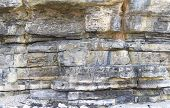 Sandstone layers in cliff wall