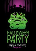 stock photo of frankenstein  - Halloween Party Design template - JPG