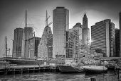 South Street Seaport And Downtown Manhattan Skyline