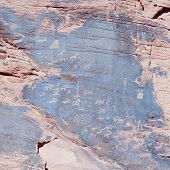 Ancient Indian Rock Art, Also Called Petroglyphs