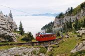 Mountain Railway In Swiss Alps