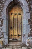 old antique elizabethan castle manor door