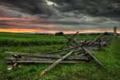 stock photo of split rail fence  - Split - JPG