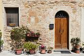 The Medieval Town Pienza In Italy